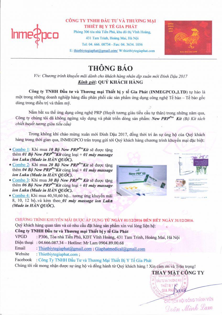 chuong trinh khuyen mai thang 12 2016